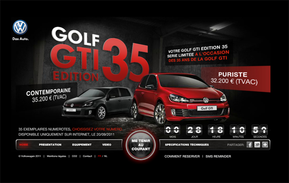 The exclusive Golf GTI 35 years